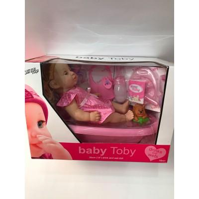 Пупс Baby Toby в ванной
